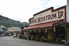 Vecchia costruzione di Morris Hedstrom a Levuka, isola di Ovalau, Figi Fotografia Stock Libera da Diritti