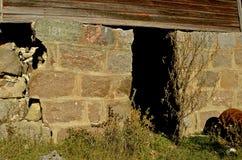 Vecchia costruzione di sostegni del fondamento Fotografia Stock