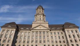 Vecchia costruzione di stadthaus a Berlino Germania immagine stock