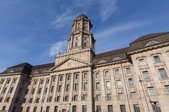 Vecchia costruzione di stadthaus a Berlino Germania immagini stock libere da diritti