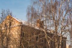 Vecchia costruzione distrussa fotografia stock