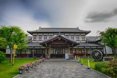 Vecchia costruzione giapponese tradizionale a Kyoto Fotografia Stock