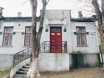 vecchia costruzione, Kiev Fotografia Stock Libera da Diritti