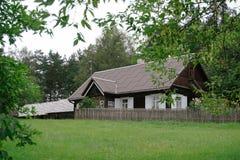 Vecchia costruzione lituana Fotografia Stock Libera da Diritti