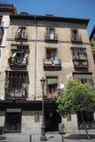 Vecchia costruzione a Madrid Immagini Stock Libere da Diritti