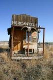 Vecchia costruzione mercantile ad ovest Fotografie Stock