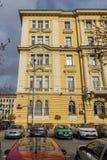 Vecchia costruzione nel centro della città di Sofia, Bulgaria Fotografia Stock