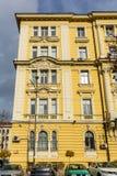 Vecchia costruzione nel centro della città di Sofia, Bulgaria Immagini Stock Libere da Diritti