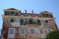 Vecchia costruzione nell'isola di Paxos fotografie stock libere da diritti