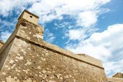 Vecchia costruzione nella cittadella in Victoria Malta Fotografie Stock