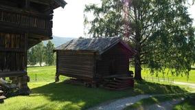 Vecchia costruzione norvegese Fotografie Stock Libere da Diritti