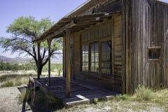 Vecchia costruzione occidentale dello studio cinematografico della città fotografia stock