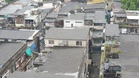 Vecchia costruzione osservata dall'angolo alto Immagini Stock Libere da Diritti