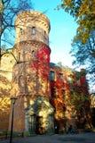 Vecchia costruzione per i motivi della città universitaria dell'università di Lund in Svezia Fotografie Stock