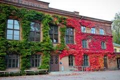 Vecchia costruzione per i motivi della città universitaria dell'università di Lund in Svezia Fotografia Stock Libera da Diritti