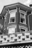 Vecchia costruzione su una via di galena, Illinois fotografia stock