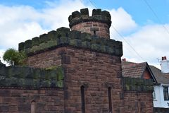 Vecchia costruzione sull'orlo del villaggio del oxton Immagini Stock Libere da Diritti