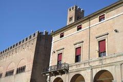 Vecchia costruzione sulla piazza Cavour Fotografia Stock Libera da Diritti