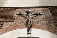 Vecchia croce in chiesa Fotografia Stock