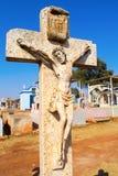 Vecchia crocifissione di pietra di Gesù Fotografia Stock