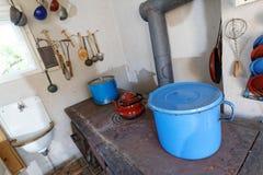 Vecchia cucina della fattoria Fotografia Stock Libera da Diritti