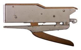 Vecchia cucitrice meccanica su bianco isolata Png disponibile Fotografia Stock