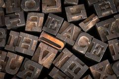 Vecchia della stampante di Letters Spell pace fuori Immagine Stock Libera da Diritti