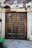 Vecchia doppia porta di legno Immagine Stock