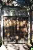 Vecchia doppia porta di legno Immagini Stock Libere da Diritti