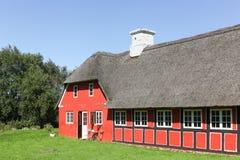 Vecchia e casa tradizionale in Danimarca Fotografia Stock