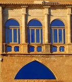 Vecchia e finestra moderna Fotografia Stock