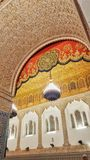 Vecchia e la porta artistica araba di architettura, zarhoun dei idriss di Moulay, Marocco fotografia stock libera da diritti