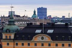 Vecchia e nuova architettura di Stoccolma, Immagine Stock Libera da Diritti