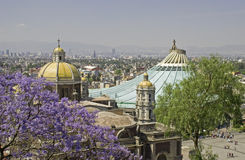 Vecchia e nuova basilica di Guadalupe immagine stock libera da diritti