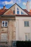 Vecchia e nuova casa Fotografia Stock