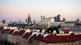 Vecchia e nuova città Fotografia Stock Libera da Diritti