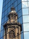 Vecchia e nuova Santiago de Cile Immagine Stock Libera da Diritti