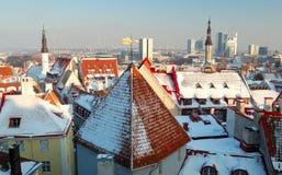 Vecchia e nuova Tallinn Fotografia Stock Libera da Diritti