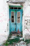 Vecchia e porta rotta Fotografia Stock