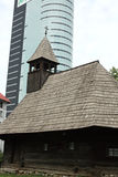 Vecchia ed architettura moderna Immagine Stock