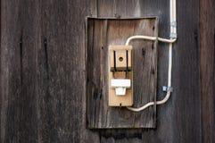 vecchia elettricità del ritaglio Fotografie Stock Libere da Diritti