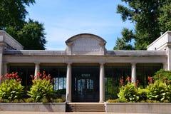Vecchia entrata ai giardini botanici del Missouri Fotografia Stock