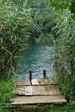 Vecchia entrata al fiume Fotografia Stock
