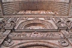 Vecchia entrata della cattedrale di Salamanca Fotografia Stock Libera da Diritti