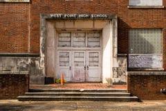 Vecchia entrata della High School di West Point Fotografia Stock