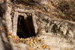 Vecchia entrata della miniera Fotografie Stock Libere da Diritti