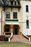 Vecchia entrata Palic Subotica Serbia della costruzione immagini stock