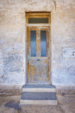 Vecchia entrata principale di legno Immagini Stock