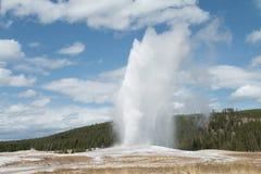 Vecchia eruzione fedele del geyser Fotografia Stock