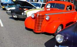 Vecchia esposizione di automobili Fotografia Stock Libera da Diritti